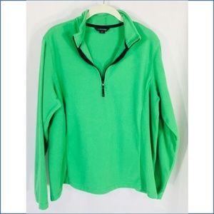 *SALE*  Lands' End Green Fleece 1/4 Zip Pullover